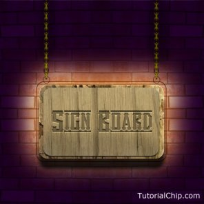 Create a beautiful sign board in photoshop