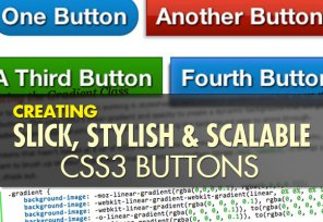 Creating Slick, Stylish and Scalable CSS3 Buttons
