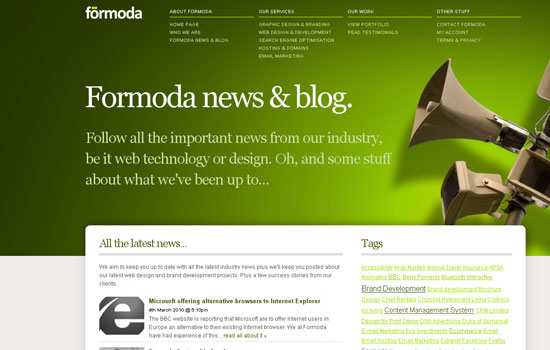 Green Websites and Templates