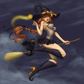 Showcase of Stunning Halloween Witches Illustration