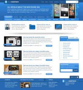 Design The Layout Blue Hightech Using Photoshop
