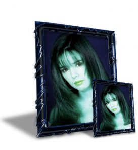 3D Perspective Embossed Photo Frame