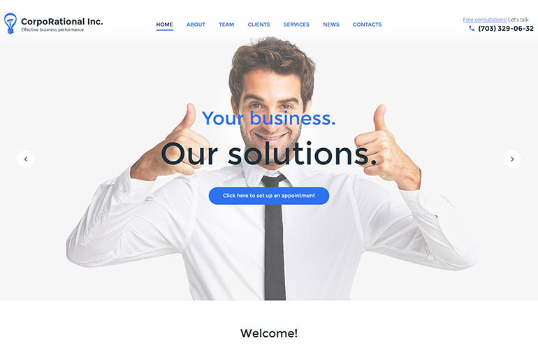 CorpoRational WordPress Theme
