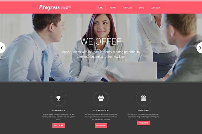 Progress Drupal Template