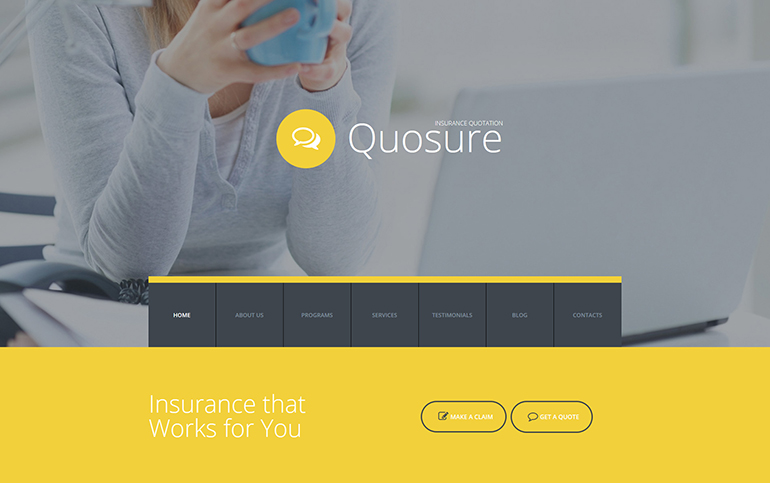 Insurance Responsive Moto CMS 3 Template