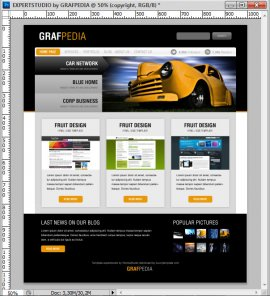 Design A Black & Yellow Portfolio With Photoshop