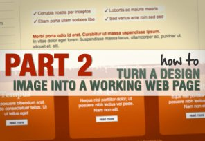 Part 2: How to Turn a Design Image Into a Working Web Page