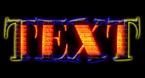 Neon Bricks Text Effect