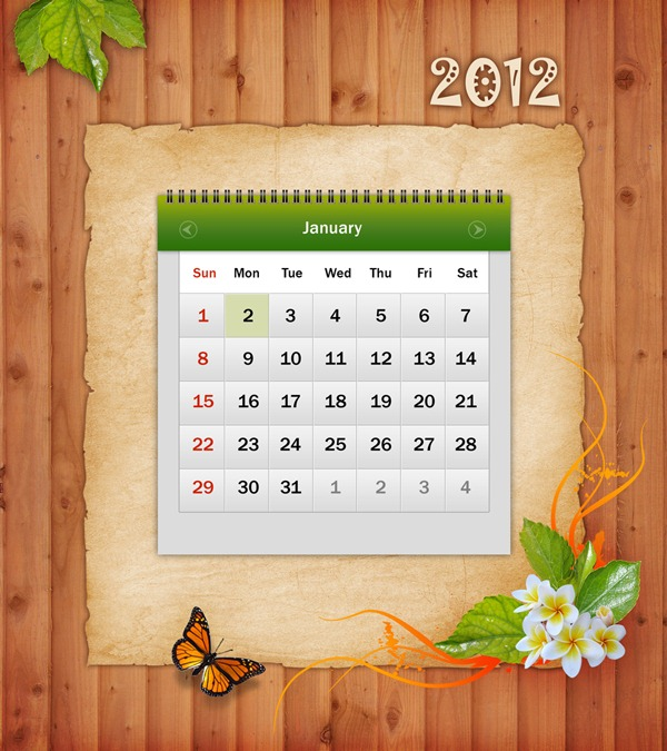 Calendar Design In Photo : Tutorial design awesome calendar in photoshop