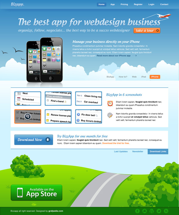 How To Design An iPhone App Website Layout | Web Layout