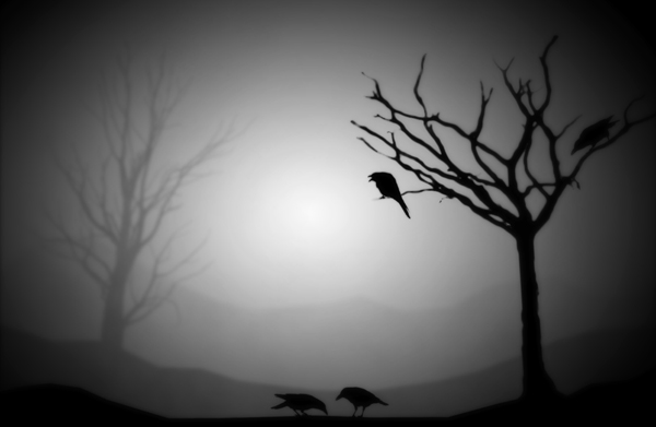 Spooky Shadow Puppet Silhouettes Photo Editing