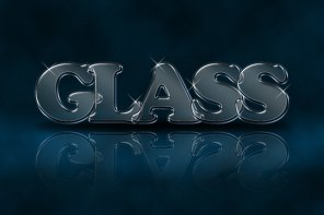 Make an Awesome Glassy Text Effect in 30 Minutes