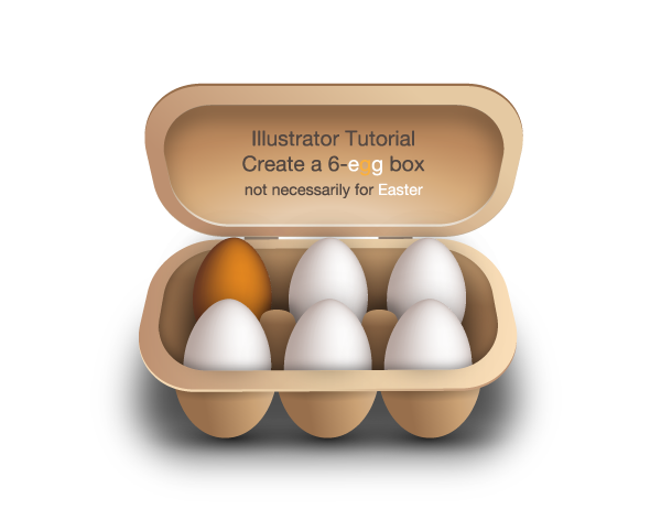 create a 6 egg box