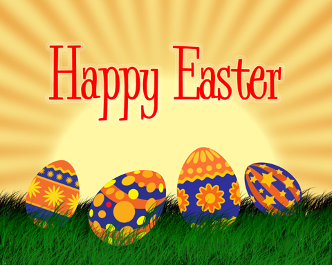 Happy easter postcard Designing Photoshop Tutorial