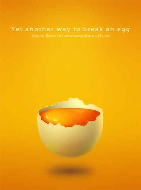 Create an Amazing Broken Egg and Yolk Drawing in Photoshop