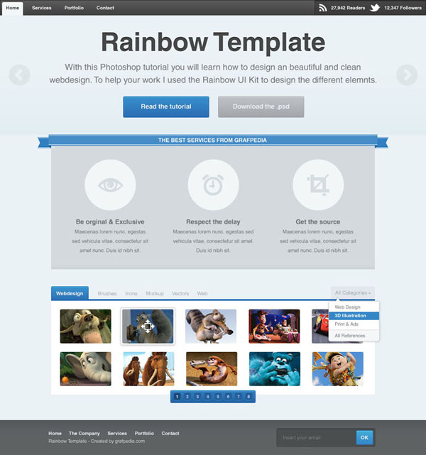 How to design the Rainbow Template with Photoshop - screen 01