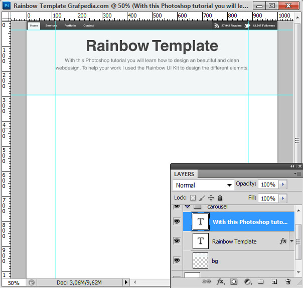 How to design the Rainbow Template with Photoshop - screen 07