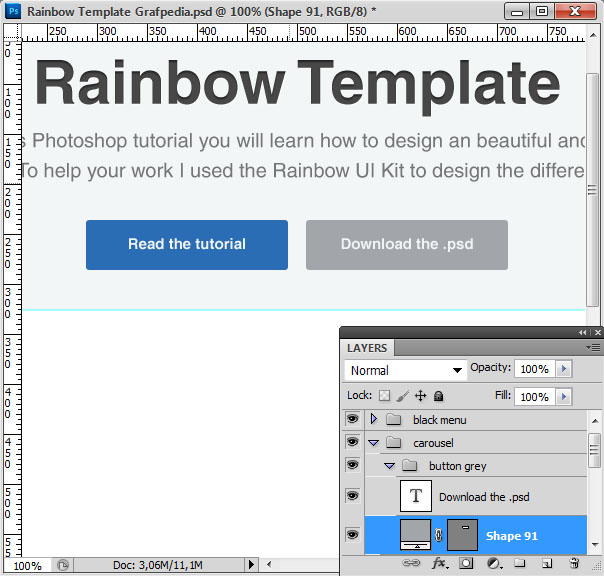 How to design the Rainbow Template with Photoshop - screen 08