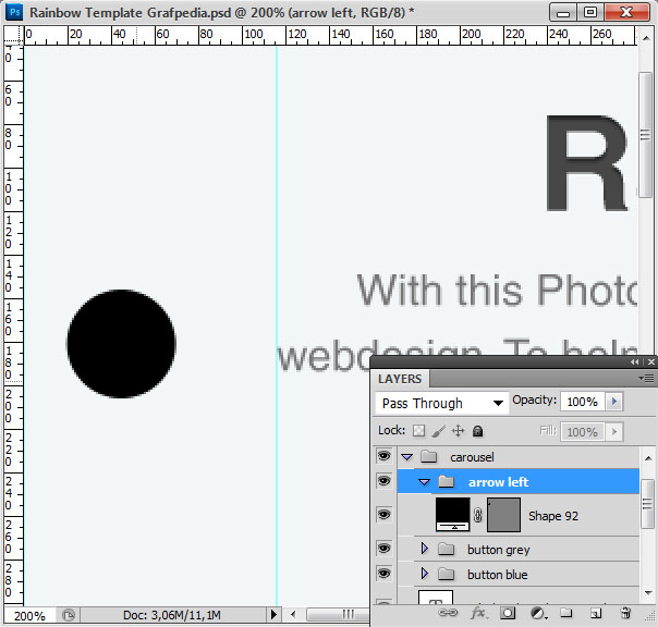 How to design the Rainbow Template with Photoshop - screen 10