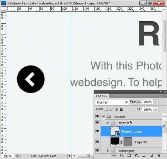 How to design the Rainbow Template with Photoshop - screen 11