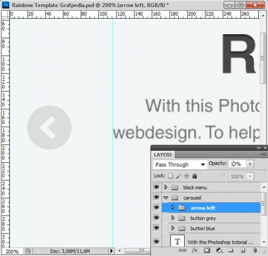 How to design the Rainbow Template with Photoshop - screen 12