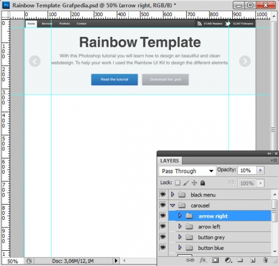 How to design the Rainbow Template with Photoshop - screen 13