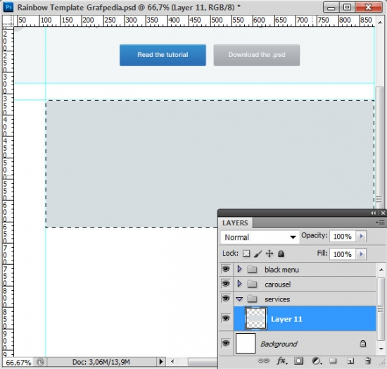 How to design the Rainbow Template with Photoshop - screen 14
