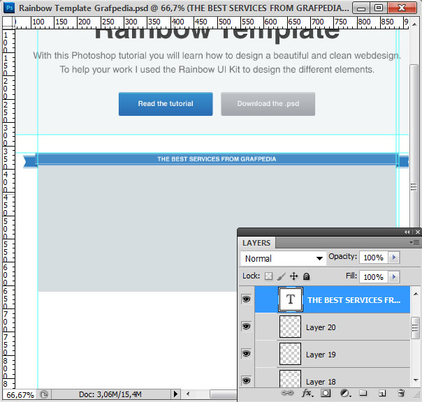 How to design the Rainbow Template with Photoshop - screen 15