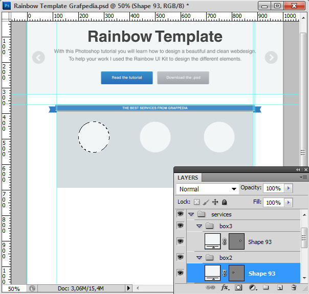 How to design the Rainbow Template with Photoshop - screen 16