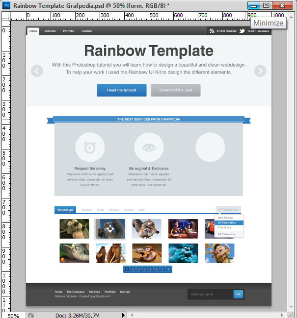 How to design the Rainbow Template with Photoshop - screen 21