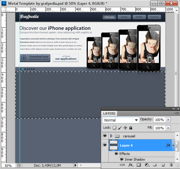 Photoshop tutorial screen 16