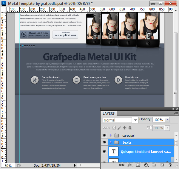 Photoshop tutorial screen 17
