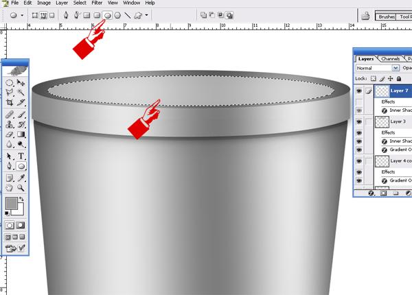 how to draw a recyccel bin