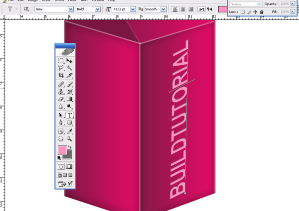 how to put text in a box photoshop
