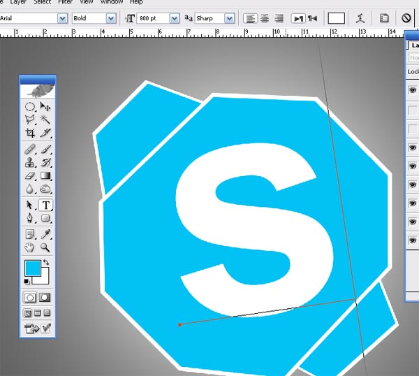 Shattered Skpe Icon H How To make Shattered Skype Icon in Photoshop