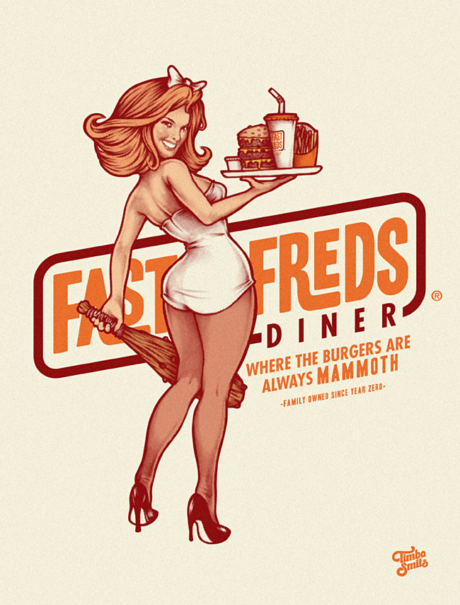 Fabuleux 50 Mind-Blowing Artworks Where PinUp Art Meets Typography  TQ38