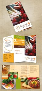 Create a Print Ready Trifold Menu for an Organic Grocery Company