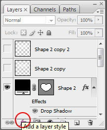 clear layer style How To Create A Heart Icon In Adobe Photoshop