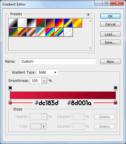 gradient tool How To Create A Heart Icon In Adobe Photoshop