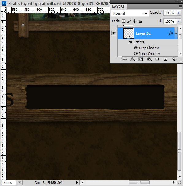 Design the Pirates Layout using Photoshop