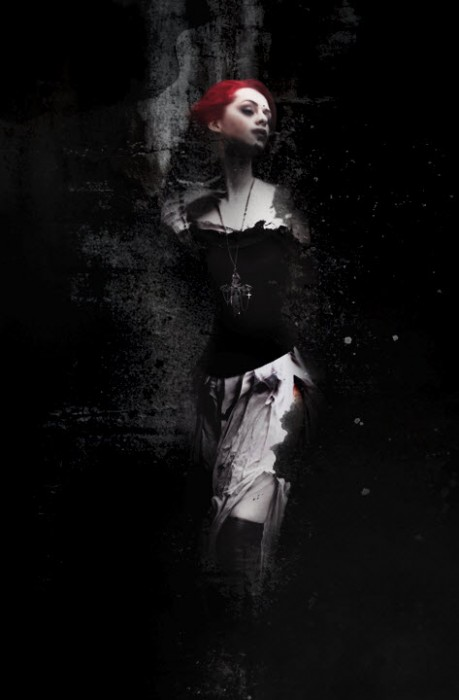 3 effect1 459x700 Create Abstract Dark Photo Manipulation with Splatter Brushes in Photoshop