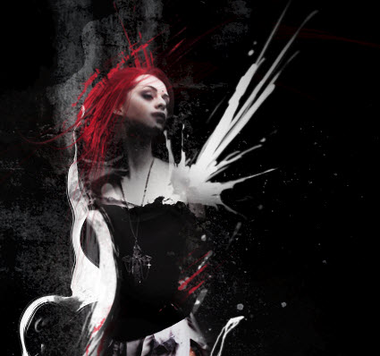5 brush Create Abstract Dark Photo Manipulation with Splatter Brushes in Photoshop