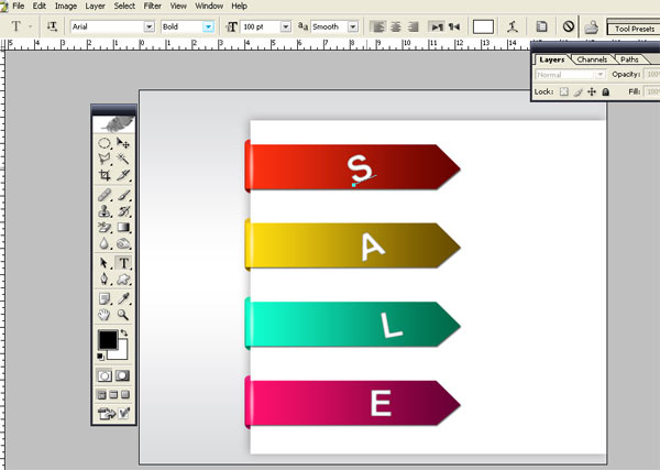 Bended SaleTag G Make Bended Sale Tag On Paper in Photoshop