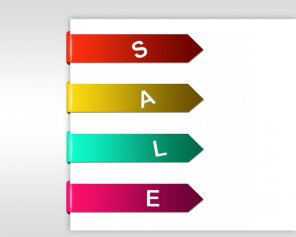 Make Bended Sale Tag On Paper in Photoshop