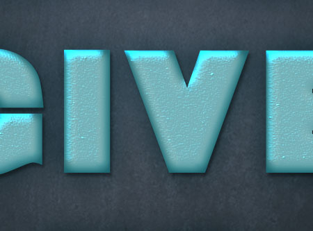 Turquoise Metallic Text Effect step 2
