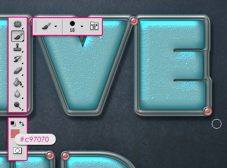 Turquoise Metallic Text Effect step 5