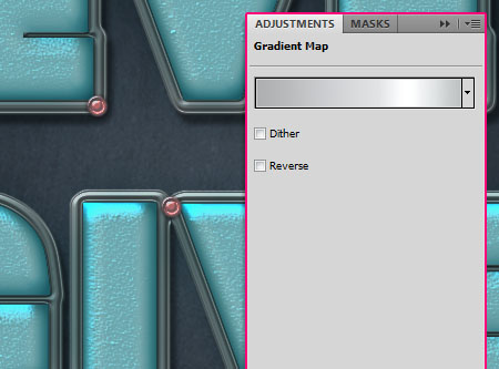 Turquoise Metallic Text Effect step 6
