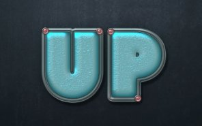 Turquoise Metallic Text Effect