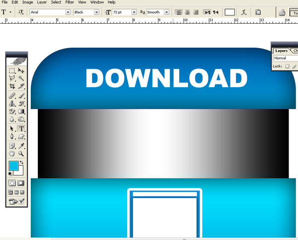 Blue Download Button J How To Make Blue Download Button in Photoshop