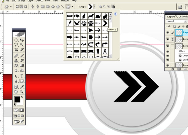 Red Arrow Button Vector H How To Make Red Arrow Button Vector in Photoshop